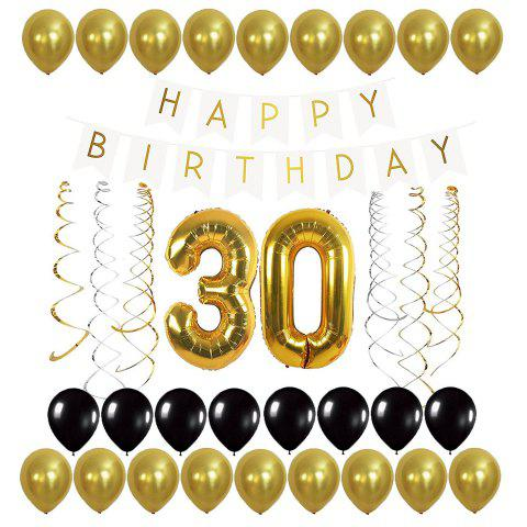 Letters Birthday Banner And Gold Balloons Streamer For 21st 30th 40th 50th 60th 70th