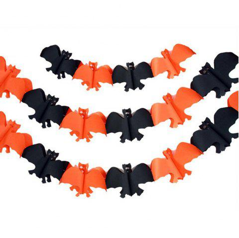 Eastern Hope 10ft Halloween Paper Chain Garland Banner Flags Outdoor Decorations Prop Bat Shape (bat) - multicolorCOLOR