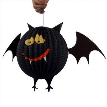 Eastern Hope 3PCS Paper Lanterns, Spider Bat Ghost Hanging Pendant Halloween Decorations Lanterns for Halloween Party Bars Decoration - multicolorCOLOR