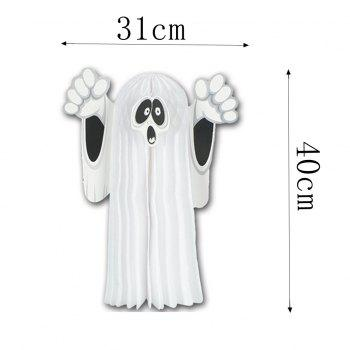 Eastern Hope Tissue Hanging Ghost Halloween Party Accessory Halloween Decoration - WHITE 1PCS