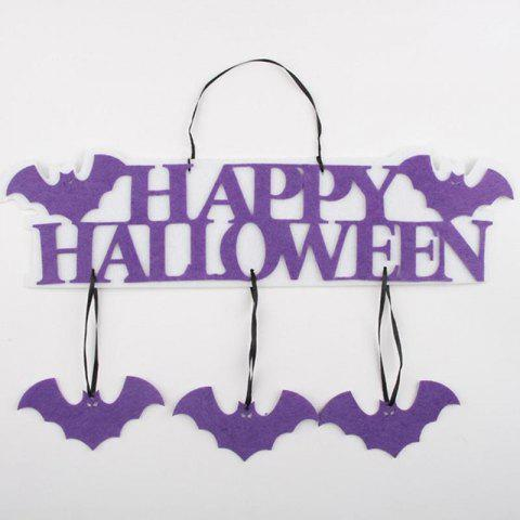 Creative Halloween Garland Banner Props for Ghost Hanging Halloween Party Decoration Party Event Decor - PURPLE 1 SET