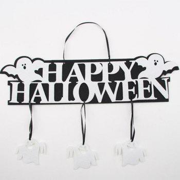 Creative Halloween Garland Banner Props for Ghost Hanging Halloween Party Decoration Party Event Decor - ORANGE 1 SET