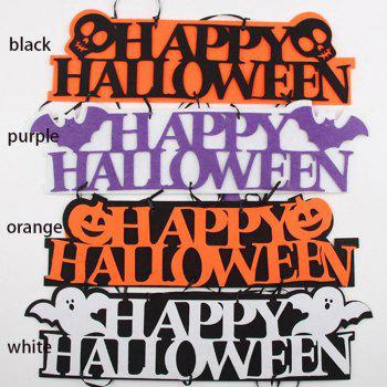 Creative Halloween Garland Banner Props for Ghost Hanging Halloween Party Decoration Party Event Decor - WHITE 1 SET