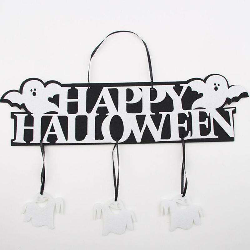 Creative Halloween Guirlande Bannière Props pour Ghost Hanging Halloween Party Décoration Party Event Decor - Blanc 1 SET