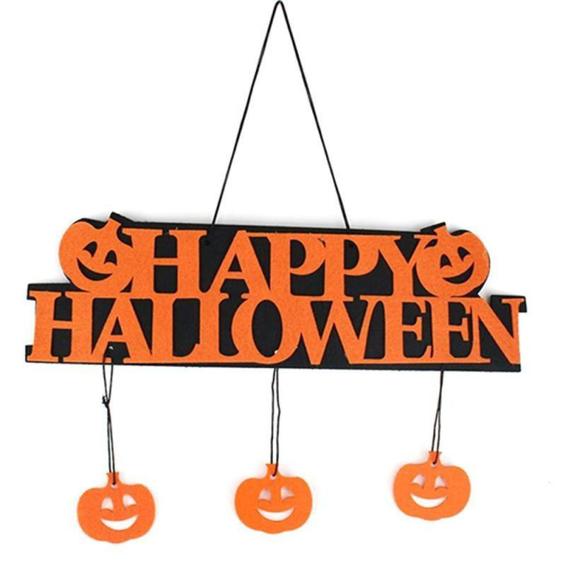 Creative Halloween Guirlande Bannière Props pour Ghost Hanging Halloween Party Décoration Party Event Decor - Orange 1 SET
