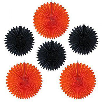 Halloween Party Decorations Banner Kit –Paper Fans, Paper Tassel, Paper Poms Poms , Paper Honeycomb Ball, Perfect Party Supplies - multicolorCOLOR
