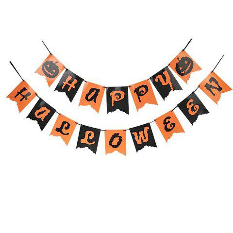 2M Happy Halloween Paper Letter Bunting Banner Room Decorations - multicolorCOLOR 2M
