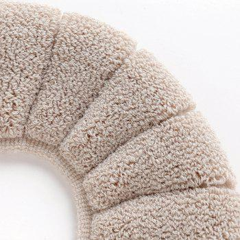 Comfortable fluff  candismantled toilet seat cushion - BEIGE