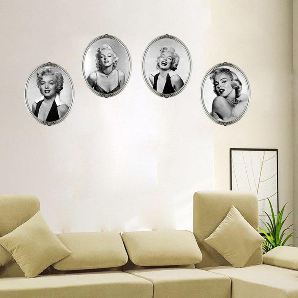 2017 1set4pcs four different expressions of beautiful sexy laugh 1set4pcs four different expressions of beautiful sexy laugh marilyn monroe pvc wall stickers celebrity amipublicfo Image collections