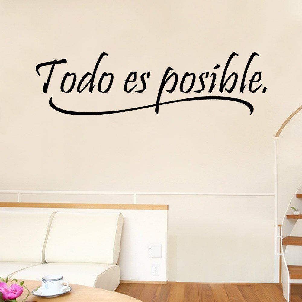 2018 9221 Todo Es Posible Spanish Vinyl Quote Wall Stickers