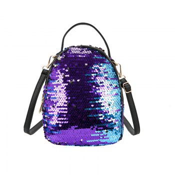 Women s Fish Scale Sequined Backpack Large capacity multi zip color multi purpose bag