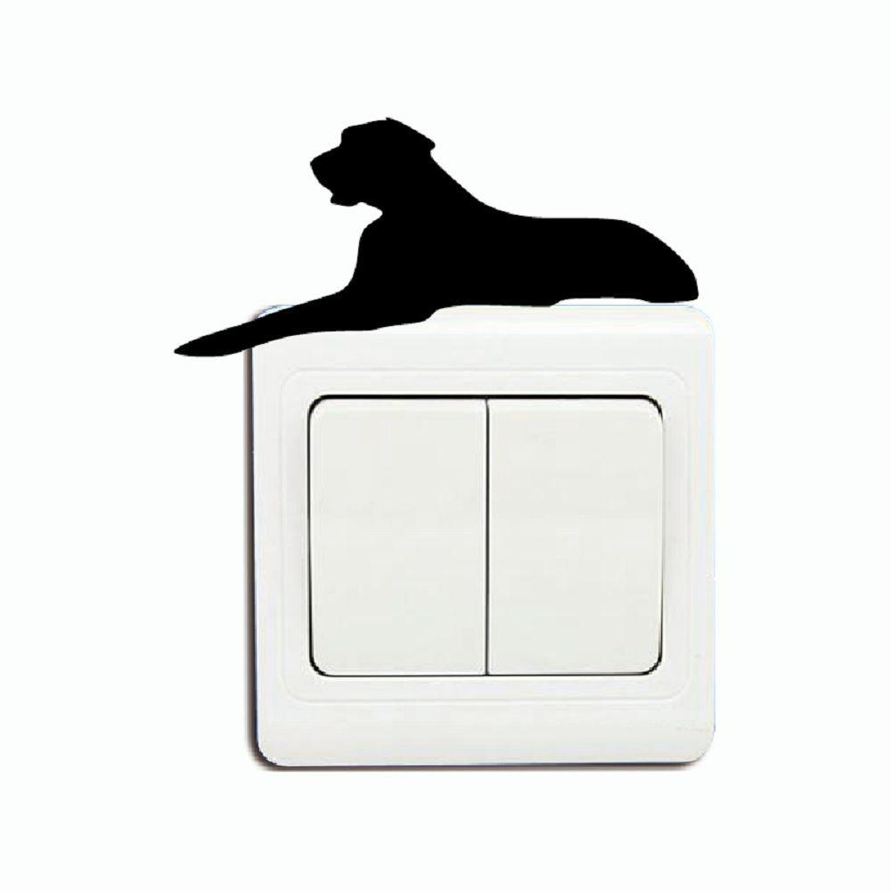 где купить DSU Big Dog Laying On Light Switch Sticker Cartoon Animal Vinyl Wall Stickers for Kid по лучшей цене
