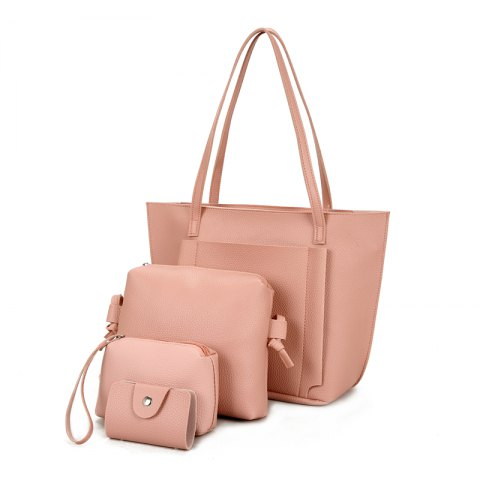 Four Pieces of New Simple Tote Bag Handbag - PINK