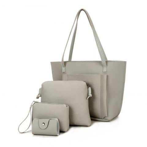 Four Pieces of New Simple Tote Bag Handbag - GRAY
