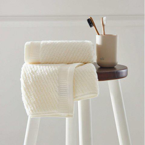 Long Staple Cotton Super Soft Wash Face Household Towel - OFF WHITE 35CM X 78CM