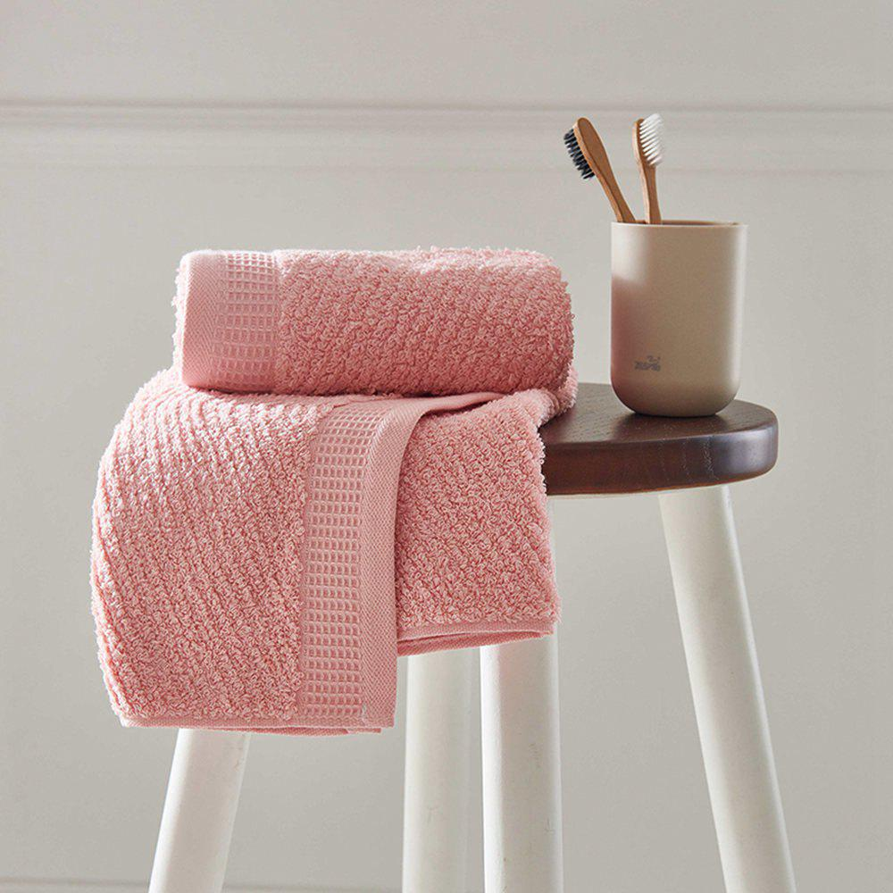 Long Staple Cotton Super Soft Wash Face Household Towel - PINK 35CM X 78CM