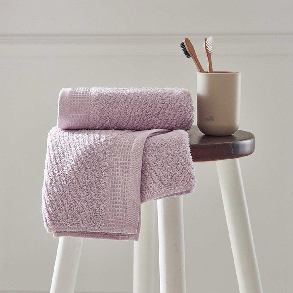 Long Staple Cotton Super Soft Wash Face Household Towel - LIGHT PURPLE 35CM X 78CM