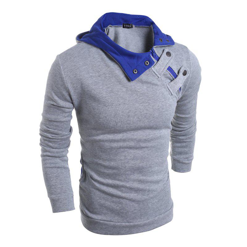 Men's S Fleece à capuche - Gris clair L
