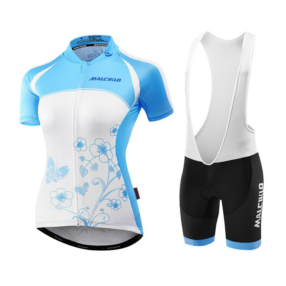 1b6789fde94 Malciklo 18 Summer Cycling Jersey Bib Tights Woman Short Bike Compression  Suits Quick Dry - WHITE