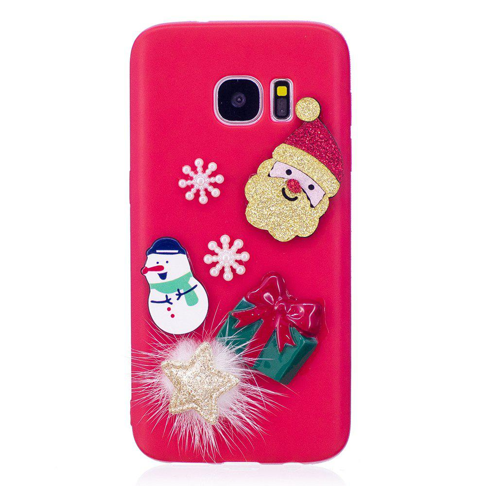 2018 case for samsung galaxy s7 christmas tpu doll series soft