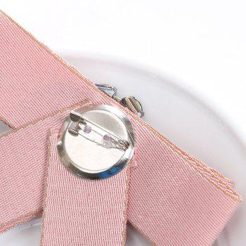 Europe and The United States Court Clothing Accessories Corsage Ribbon Bow Brooch Crystal Mosaic Flowers - PINK