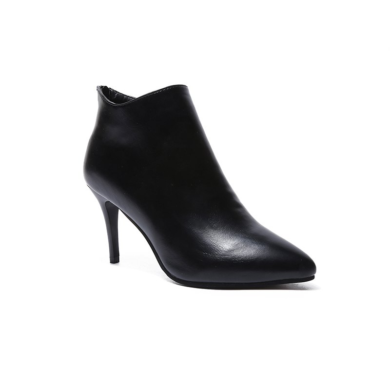 British Style Fashion High Stilettos Ankle Boots - BLACK 38