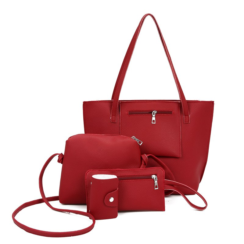 Nut mère paquet quatre-épaule sac à bandoulière mode simple sac à main sauvage Messenger Bag - Rouge