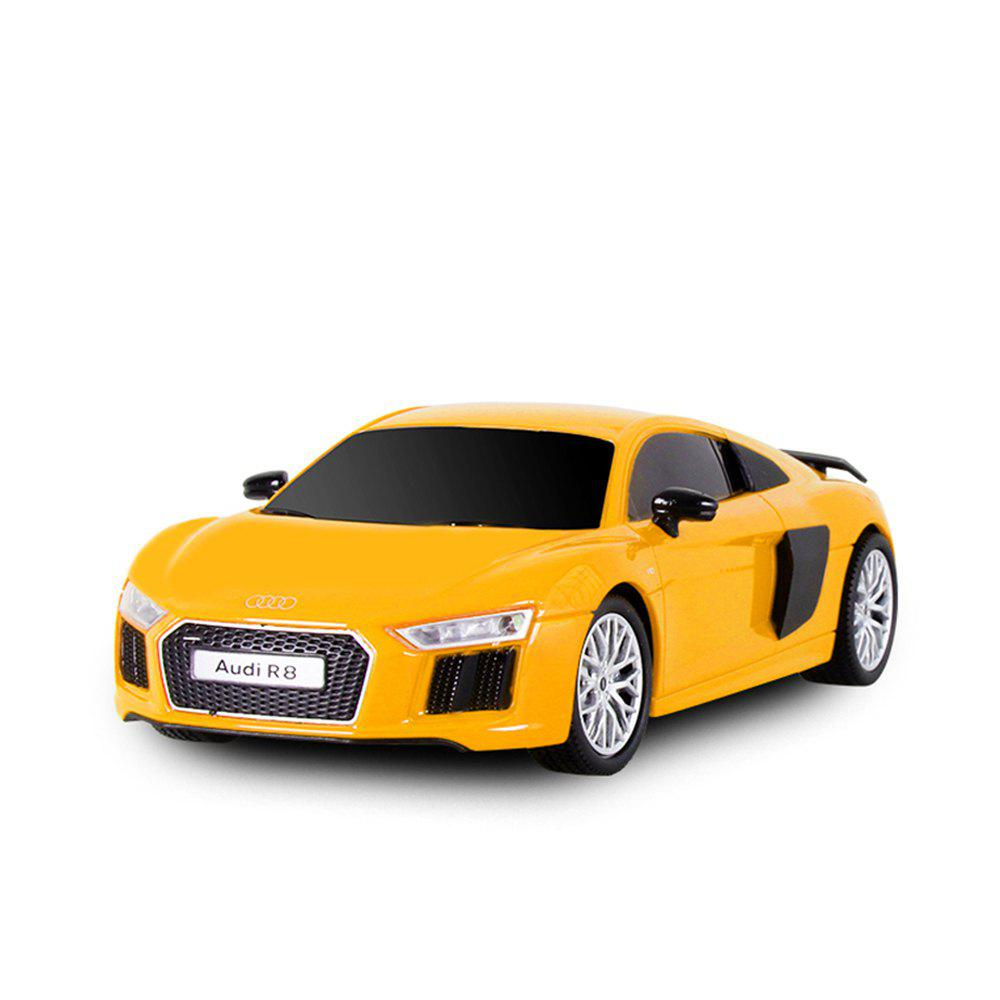Attop 1815 Audi R8 1:18 Authorizes Remote Control Car Simulation Drifting Racing Car Racing Model Toy Car - YELLOW
