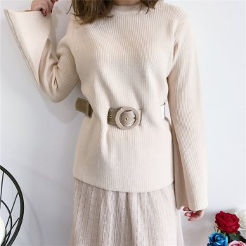 Autumn and Winter New Vintage  Ladies  Lace Gauze Skirt Suit - APRICOT ONE SIZE(FIT SIZE XS TO M)