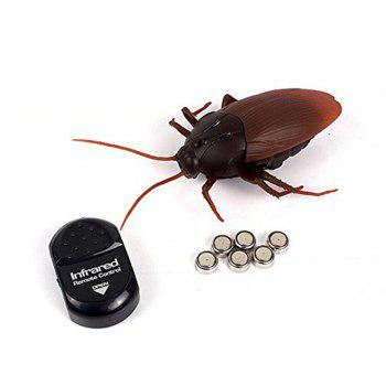 LeadingStar Funny Toy Kids Toys Creative Simulation Infrared Remote Control Cockroach The Entire Toy zk30 - BROWN BROWN