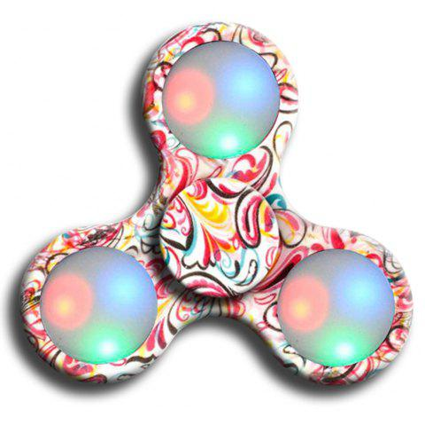 Fidgetec Premium Water Resistant Tri Fidget LED Hand Spinner With On/Off Switch and Mode Flashing LED Lights - ROSE MADDER