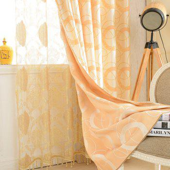 European Jacquard Blackout Curtains for Living Room Window Curtains for The Bedroom - YELLOW W150CM X L250CM (HOOKS TOP)