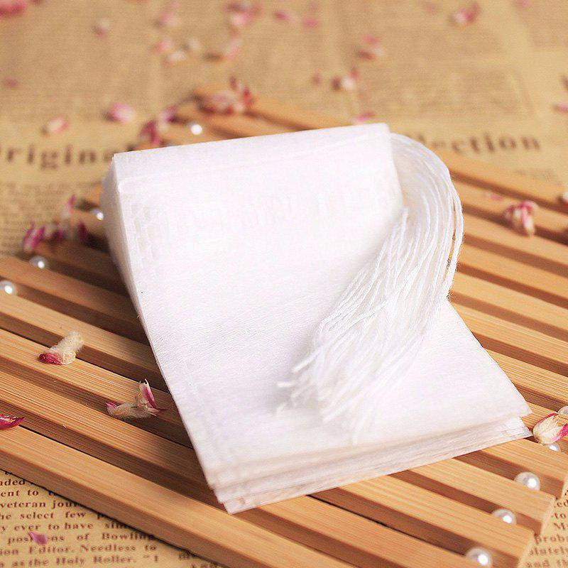 100PCS Hot Sale Non Woven Empty Tea Bags String Seal Filter Herb Loose Disposable Bags Convenient Essential Tools - WHITE