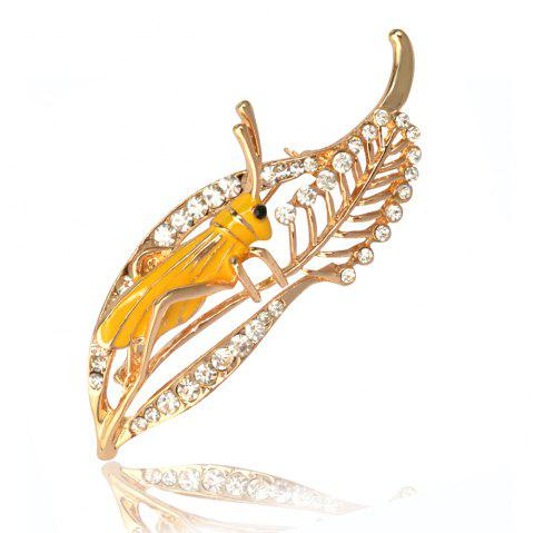 Grasshopper Brooches Enamel Pin Insect Brooch Golden Plated Jeans Pins  Fashion Jewelry