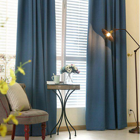 Thickened shading curtain Insulated finished curtain - PURPLISH BLUE 132MMX213MM