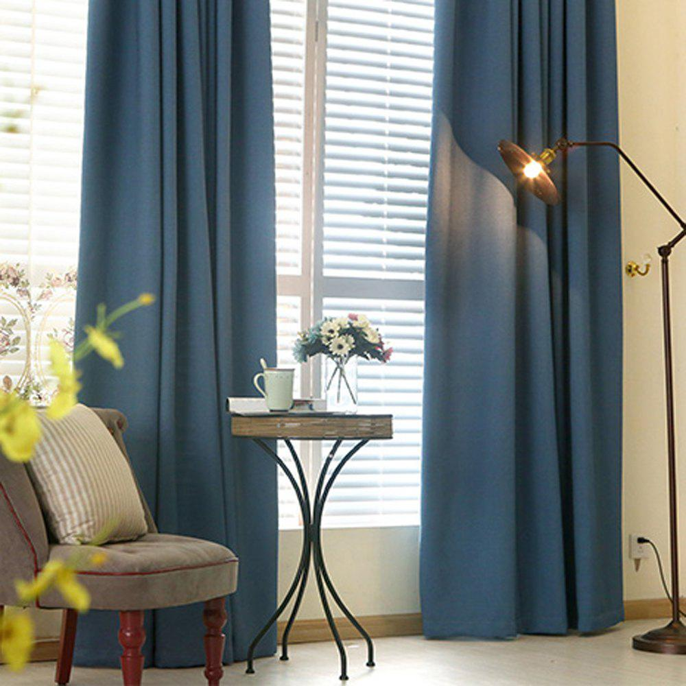 Thickened shading curtain Insulated finished curtain - PURPLISH BLUE 140MMX245MM