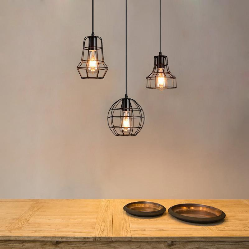 2018 industrial ceiling light fixture retro pendant lamps for office room living dining room - Office ceiling lamps ...