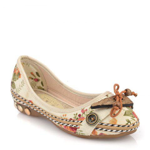 Spring and Autumn New Style National Anti Skid and Comfortable Breathable Single Shoes - FLORAL 38