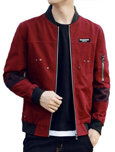 limited offer 2018 men spell color stitching cotton jacket in