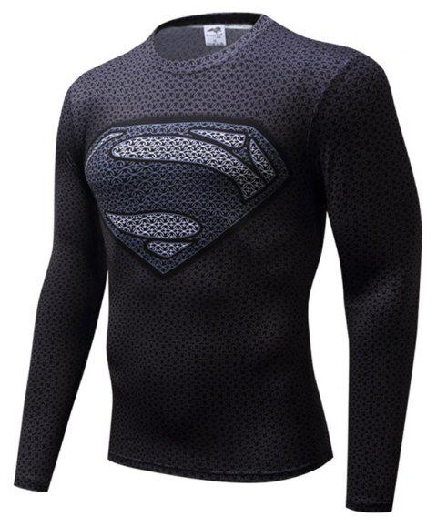T-shirt Superman Homme Fashion 3D - Noir 5XL