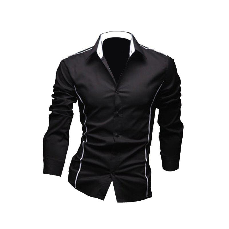 Men'S Personal Edge Fashion Casual Long-Sleeved Shirts personal assets