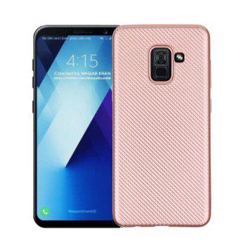 Cover Case for Samsung Galaxy A7 2018 Soft Carbon Fiber Luxury TPU - ROSE GOLD ROSE GOLD