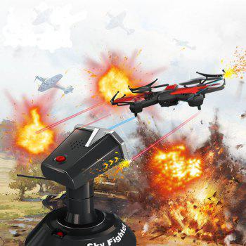 YD - 822S Mini RC Drone 2.4G 4CH 6 - Axis RTF Quadcopter Battle with 3D Flip Function and Led Lights - BLACK