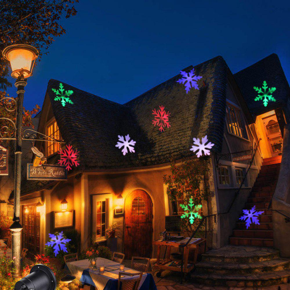 christmas light projector colorful moving snowflakes waterproof led landscape projector light for indoor outdoor eu