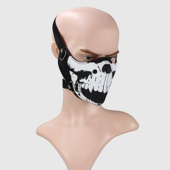 Hot Selling New Personality Locomotive Face Mask - BLACK WHITE