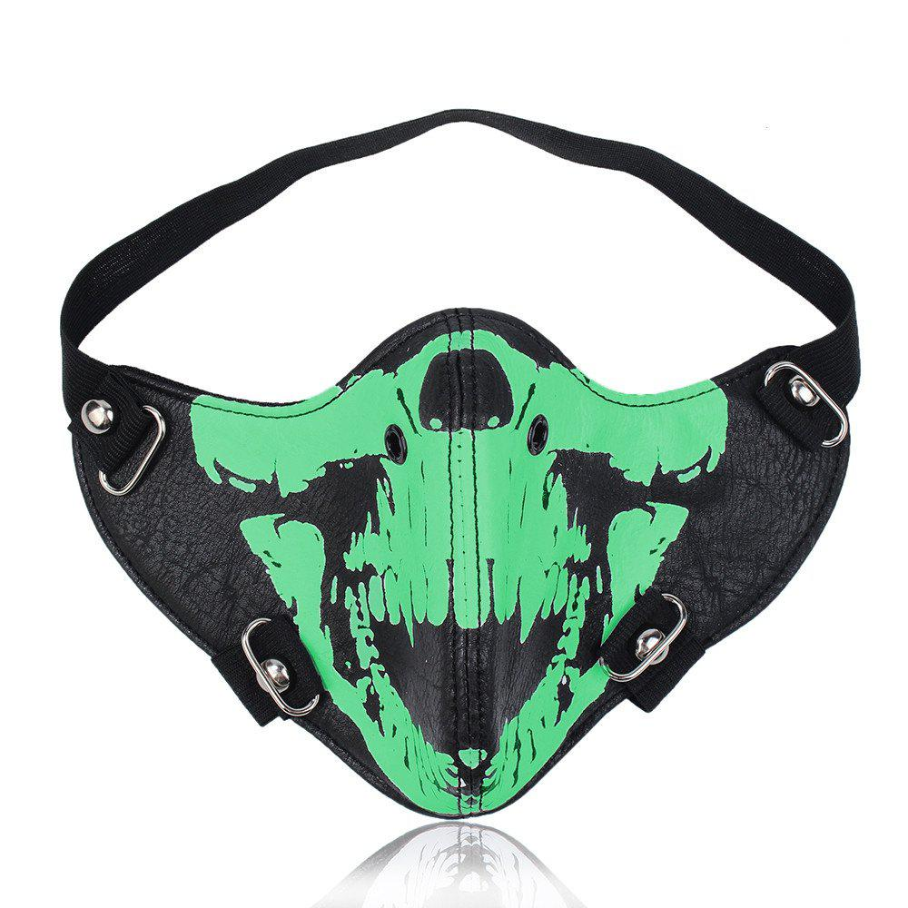 Hot Selling New Personality Locomotive Face Mask - LUMINOUS GREEN