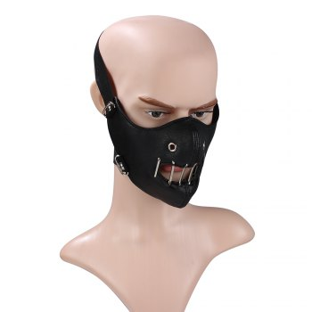 Hot Selling Personality Tidal Cortex Locomotive Outdoor Riding Mask - BLACK