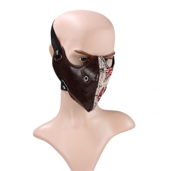 Hot Selling Leather Punk Anti Dust and Dustproof Locomotive Face Mask - BROWNIE