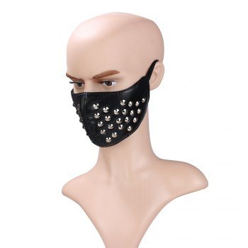 Hot Selling New Cortico Riveting Locomotive Face Mask - BLACK