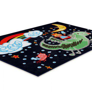 Plush Crawling Mat Cartoon Pattern Baby Playmat -  BLACK